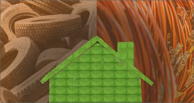 Construction: New eco-sustainable products from old tyres and electrical wiring