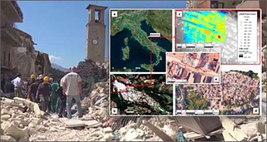 Earthquake: Satellites, sensors and algorithms for reconstruction