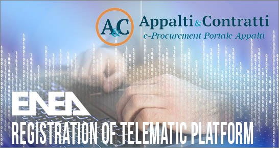 Registration of telematic platform for no MePA procedures