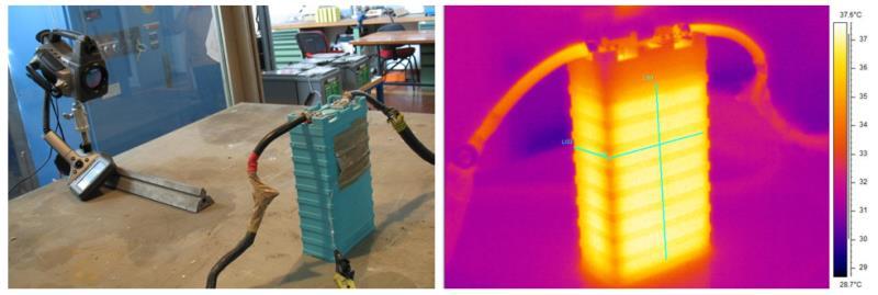 Analisi termografica cella litio