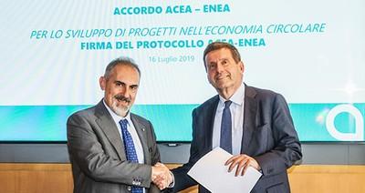ACEA ed ENEA firmano un accordo di collaborazione  per lo sviluppo di progetti nell'ambito dell'economia circolare