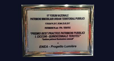ENEA, premio a Forum PA per progetto Lumière su efficienza illuminazione pubblica