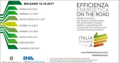 Energia: parte da Bolzano il roadshow dell'efficienza promosso dall'ENEA