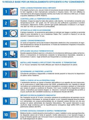 Le dieci regole per il riscaldamento