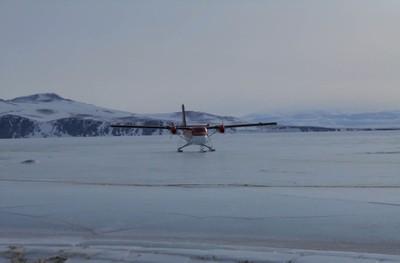 Antartide atterraggio sul pack