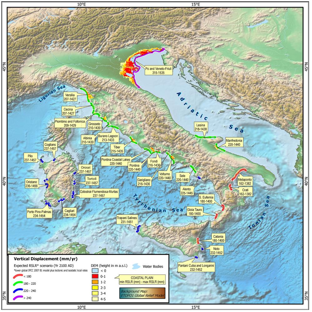 Cartina Geografica Italia Africa.Clima Enea Sud Italia Rischia Di Diventare Come Nord Africa E 33 Aree Costiere A Rischio Inondazione It