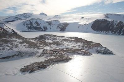 Foto aerea Antartide