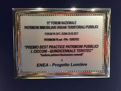 Targa Lumiere Premio