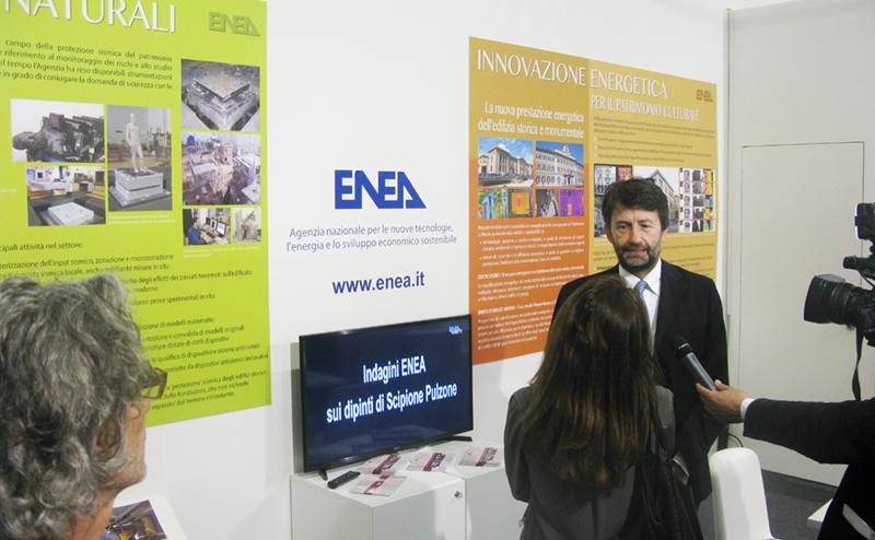 MInistro On. Dario Franceschini - stand ENEA