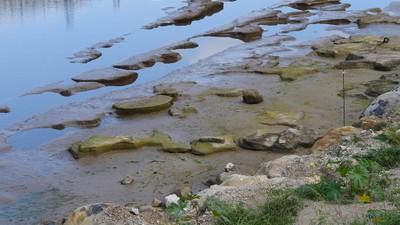 Visione panoramica della cava di mole presso Capo d'Orlando (Messina)
