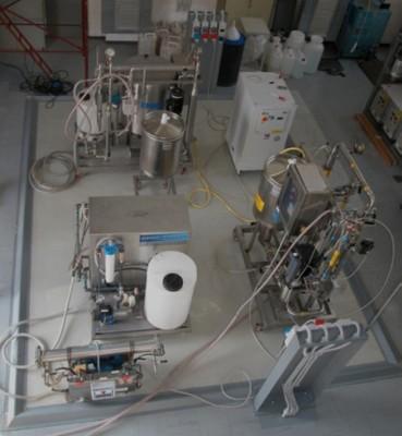 Impianti a membrane - Panoramica della hall tecnologica presso il Centro Ricerche Casaccia