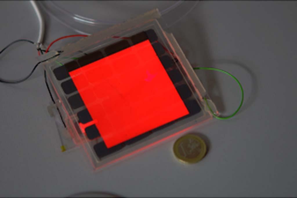 OLED trasparente molto acceso