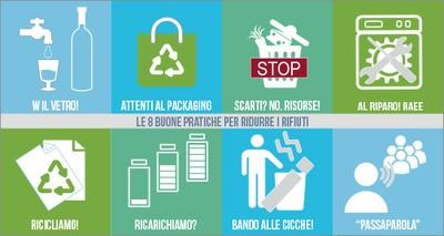Le 8 buone pratiche per ridurre i rifiuti
