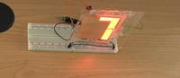Display OLED numerico a segmenti