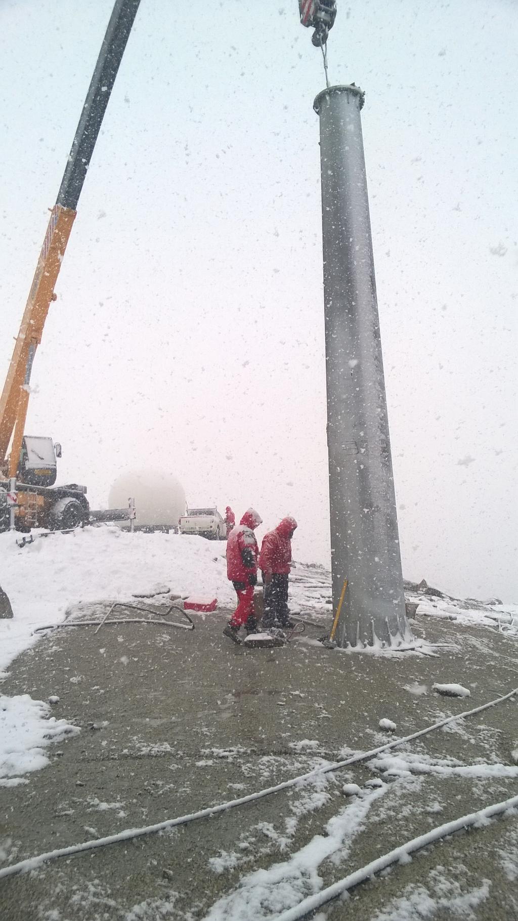 Impianto eolico sede antartica ENEA Mario Zucchelli