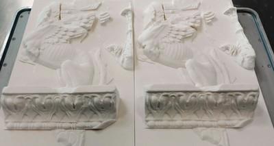 Fregio delle Sfingi ricostruito in 3D
