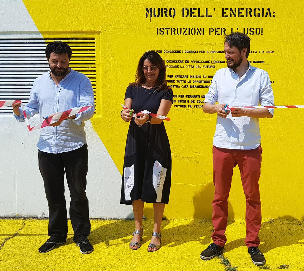 Inaugurazione Muro Energia Milano Bovisa