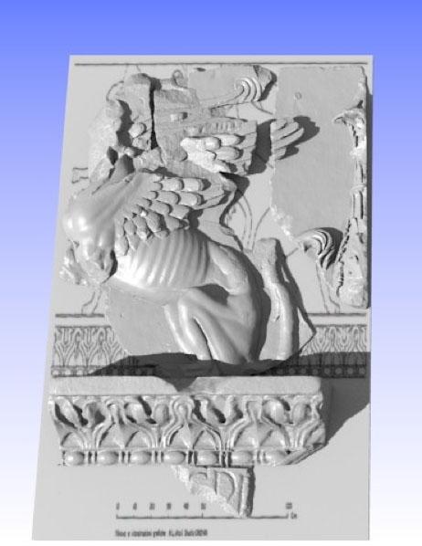 Ipotesi di ricostruzione virtuale 3D del fregio