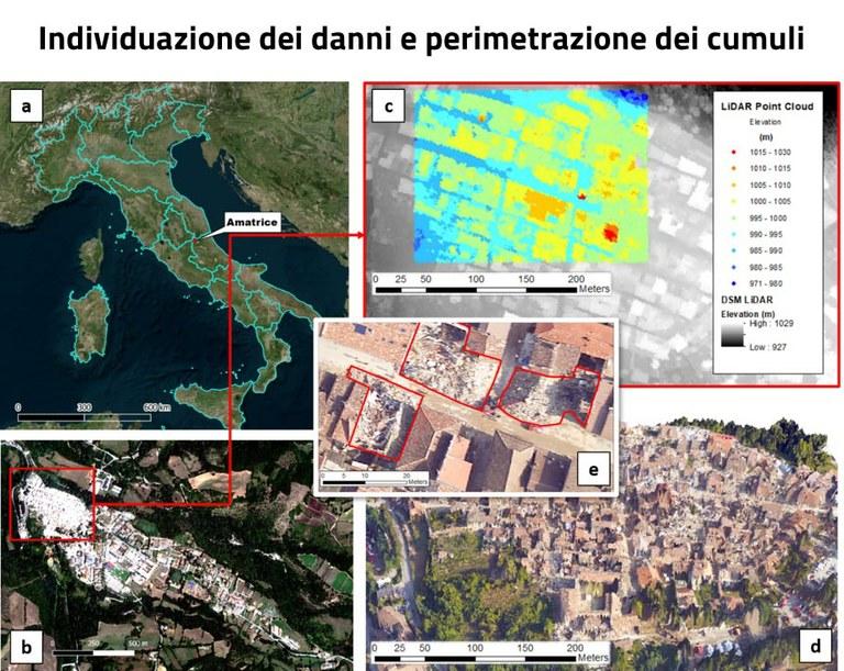 Individuazione dei danni e perimetrazione dei cumuli