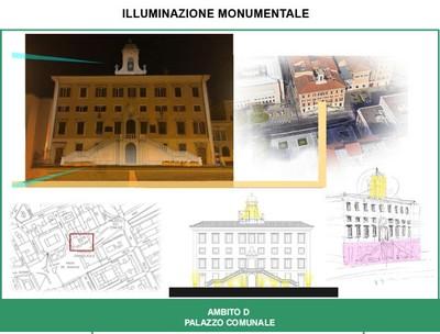 Illuminazione Palazzo comunale