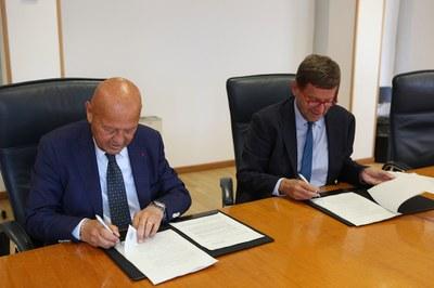 I Presidenti dell'ENEA, Federico Testa, e di Italian Exhibition Group (IEG), Lorenzo Cagnoni,