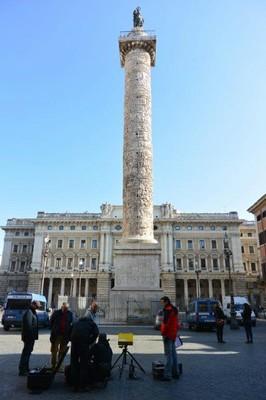 monitoraggio della Colonna Aureliana a Roma