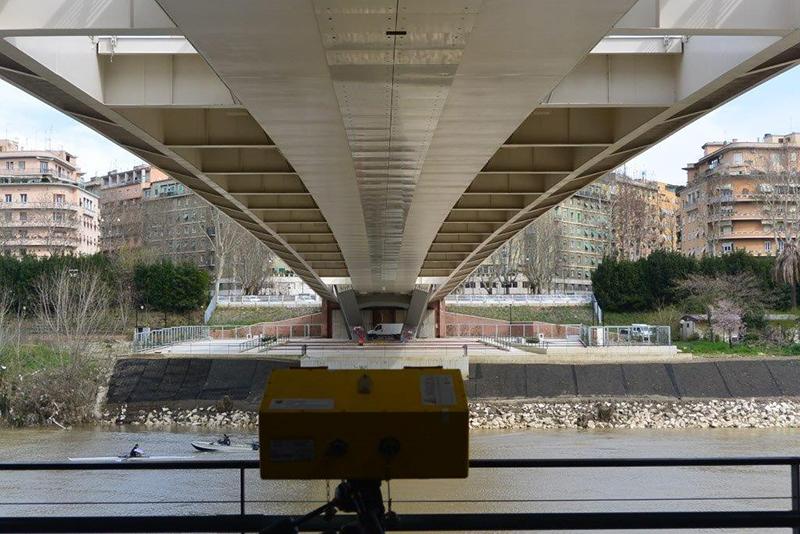 Interferometro al Ponte della Musica a Roma