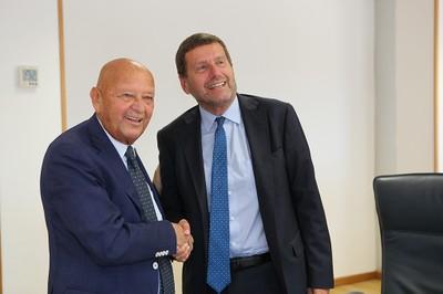 I Presidenti dell'ENEA, Federico Testa, e di Italian Exhibition Group (IEG), Lorenzo Cagnoni