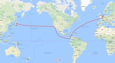 Itinerario rotta atlantica