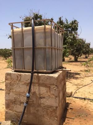 Impianto di irrigazione collegato al pozzo