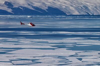 Antartide - Elicottero sul pack. Foto: B. Pagnanelli