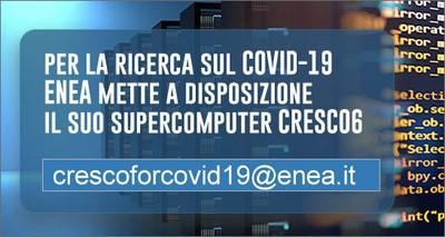 A disposizione gratuitamente della ricerca sul COVID-19 il supercomputer ENEA CRESCO 6