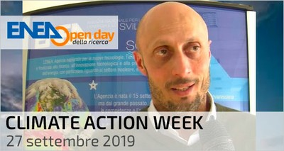 Climate Action Week: il climatologo ENEA Sannino in diretta Facebook dall'Open Day della Ricerca (27 settembre)
