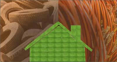 Edilizia: nuovi prodotti ecosostenibili con vecchi pneumatici e cavi elettrici