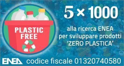 Fisco: 5x1000 alla ricerca ENEA per sviluppare prodotti 'zero plastica'