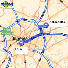 Mappa strada dall'Aeroporto