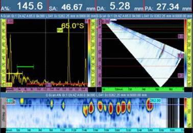 Immagine acustica composito polimerico rilevata con tecnica phased