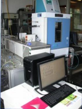 Vista d'insieme di uno degli impianti di caratterizzazione sensori