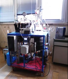 Impianto pilota di digestione anaerobica a doppio stadio