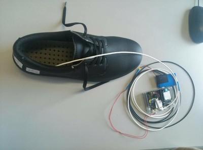 Reti sensoriali applicate a scarpe