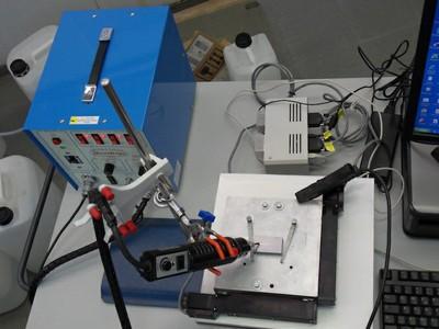 Particolare del sistema di ElettroSpark Deposition