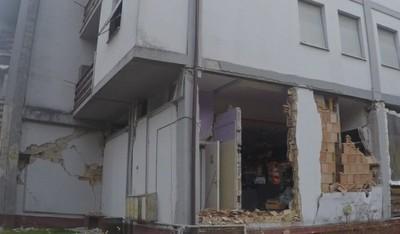 Struttura sottoposta a danni da terremoto