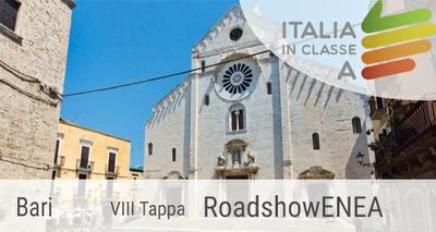 """Bari  ottava tappa del roadshow ENEA """"Italia in classeA"""""""