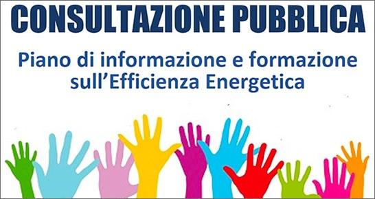 Consultazione pubblica online sul nuovo Programma triennale di informazione e formazione sull'efficienza energetica: invito alla partecipazione