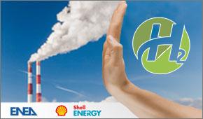 Concetto di decarbonizzazione e di idrogeno verde