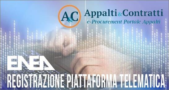 Registrazione piattaforma telematica procedure effettuate fuori dal MePA
