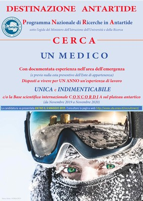 Avviso per un medico Antartide