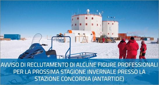 Reclutamento personale Antartide 2021