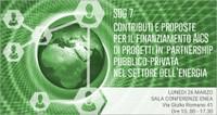 SDG 7 - Contributi e proposte per il finanziamento AICS di progetti in partnership pubblico-privata nel settore dell'energia