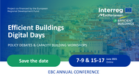 Save the date! Efficient Buildings Digital Days